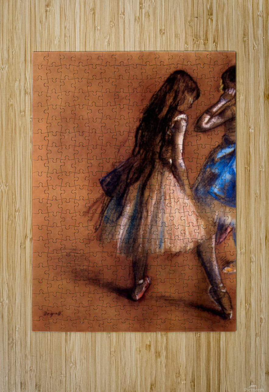 Two dancers 1 by Degas  HD Metal print with Floating Frame on Back