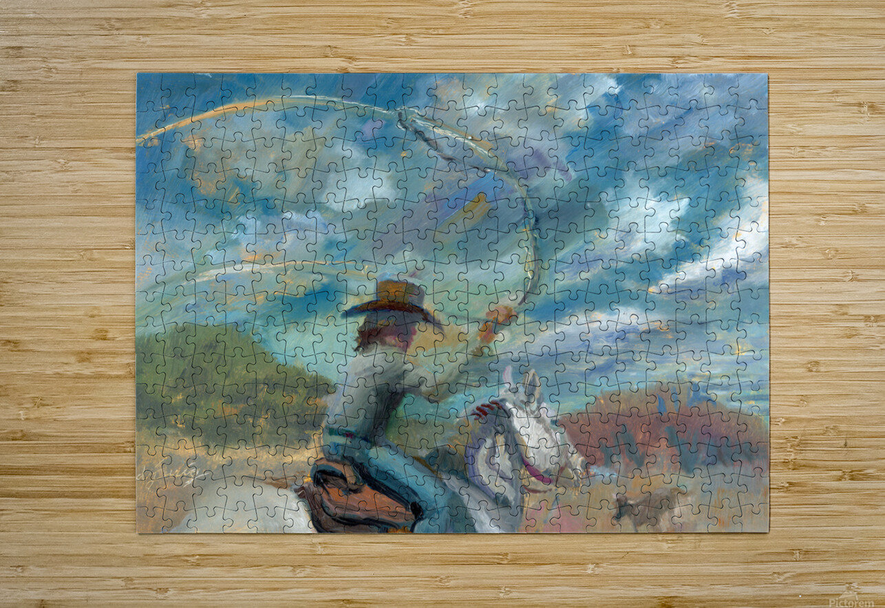 Ride Em Cowboy  HD Metal print with Floating Frame on Back