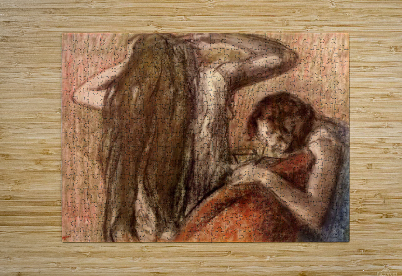 Two girls by Degas  HD Metal print with Floating Frame on Back