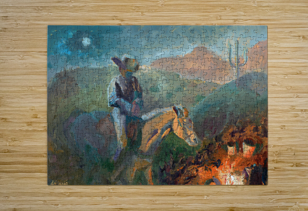 A Cowboys Trusted Friend  HD Metal print with Floating Frame on Back