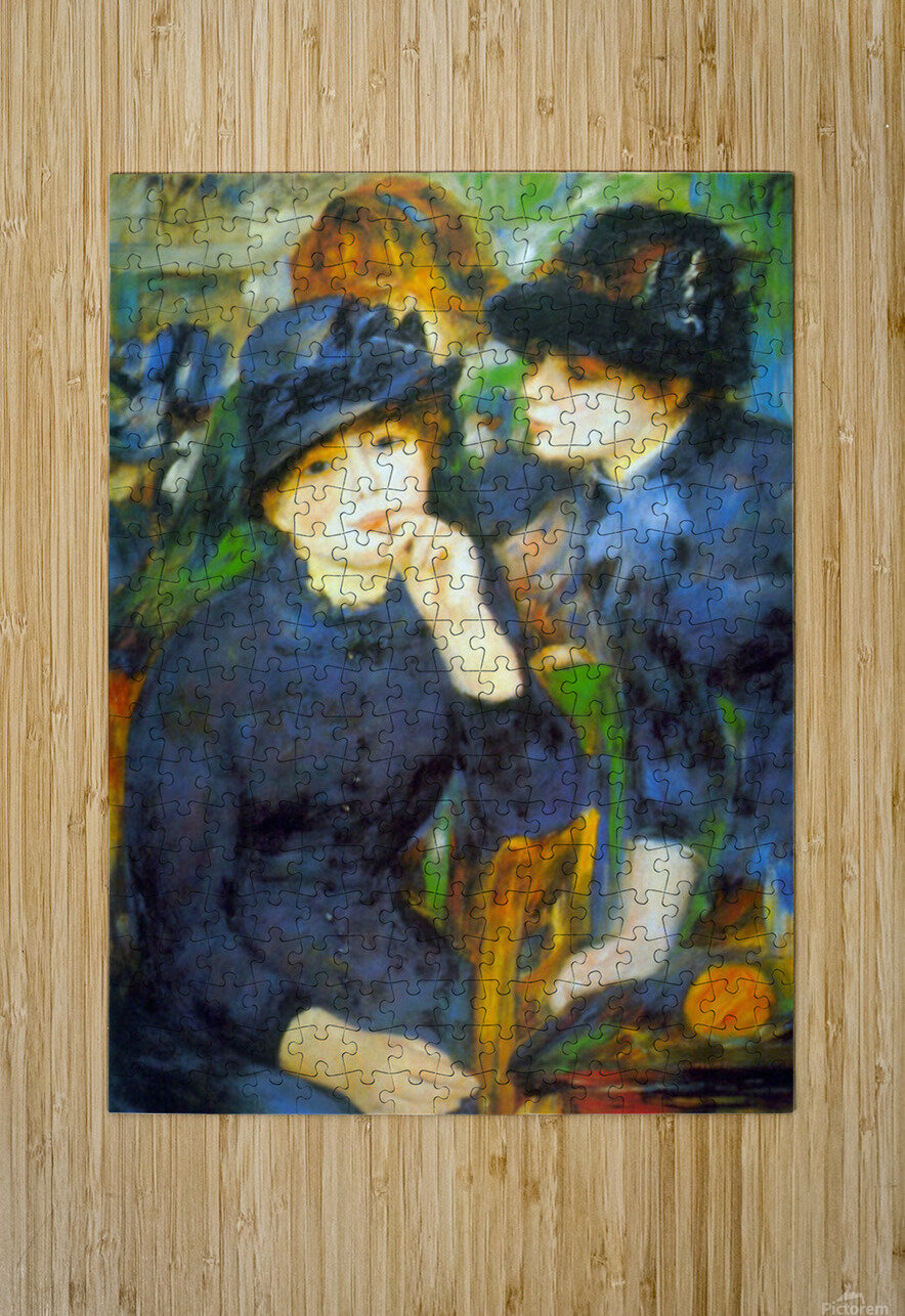 Two Girls by Renoir  HD Metal print with Floating Frame on Back