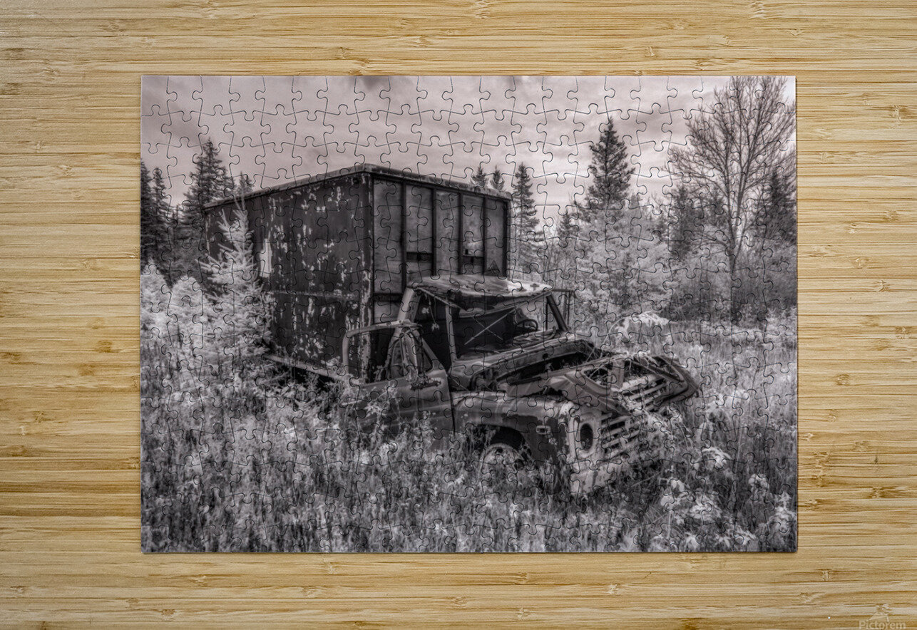 Out of Commission  HD Metal print with Floating Frame on Back