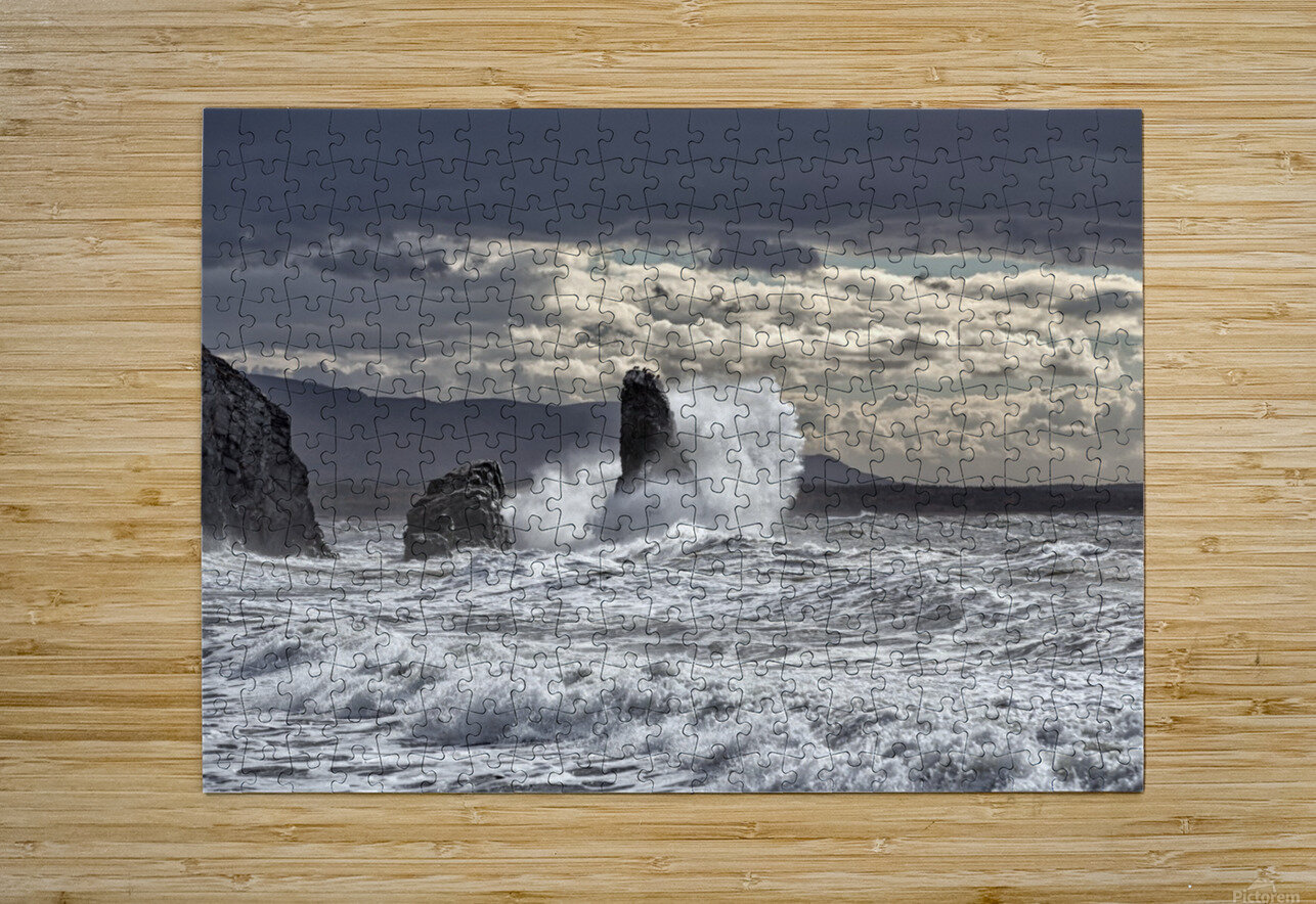 Pillar Rock Drama  HD Metal print with Floating Frame on Back