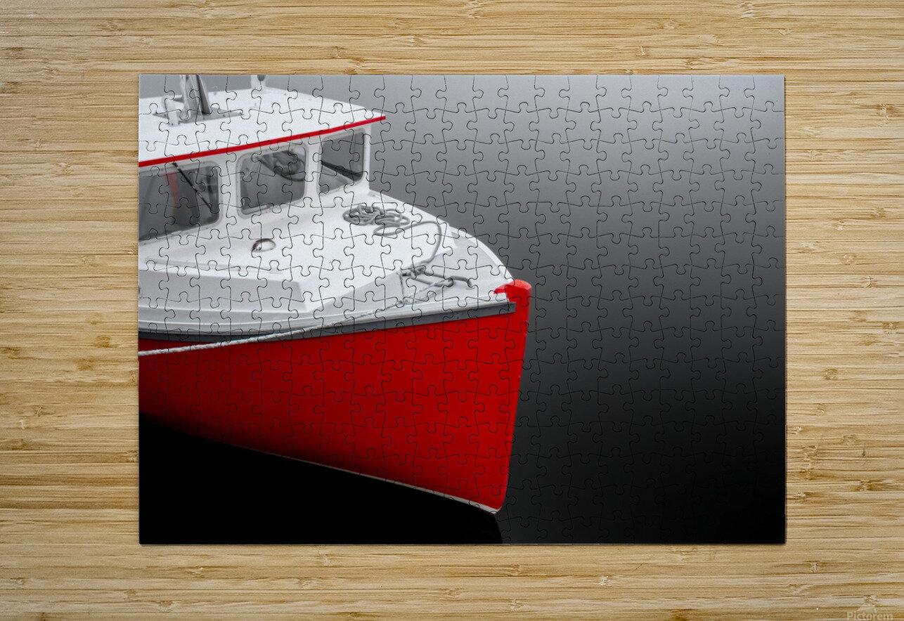 Crimson  HD Metal print with Floating Frame on Back
