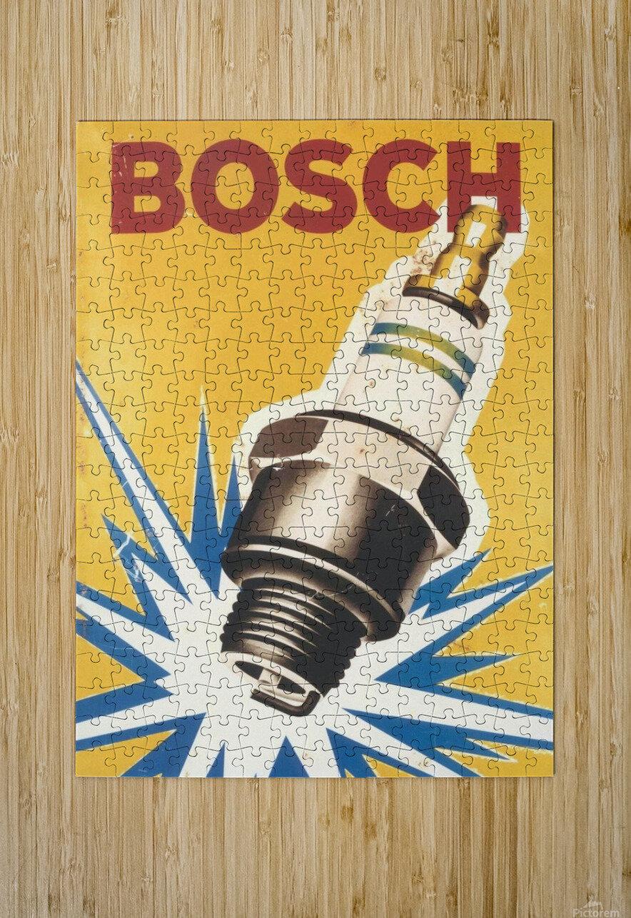 Vintage Bosch Spark Plug Automobile  HD Metal print with Floating Frame on Back