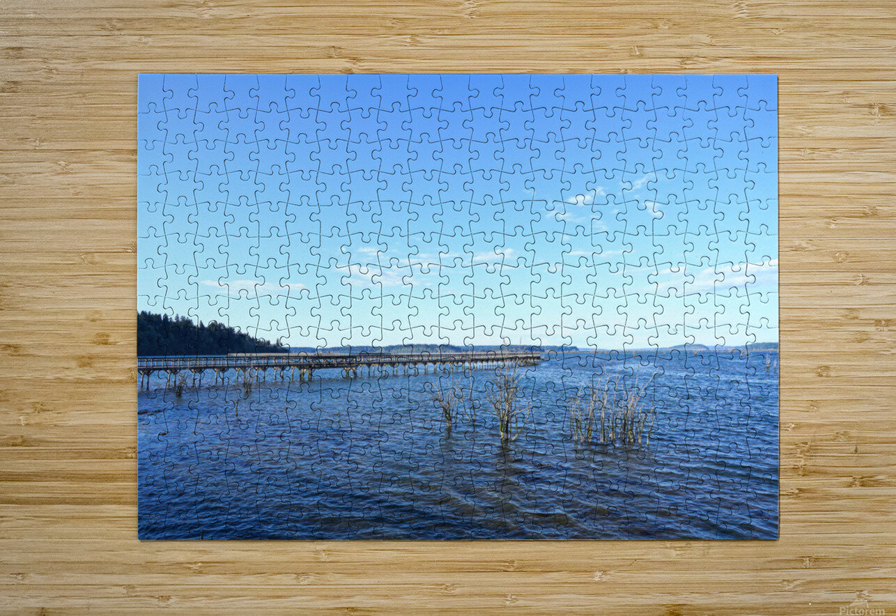 One Day at the Estuary 2 of 4  HD Metal print with Floating Frame on Back