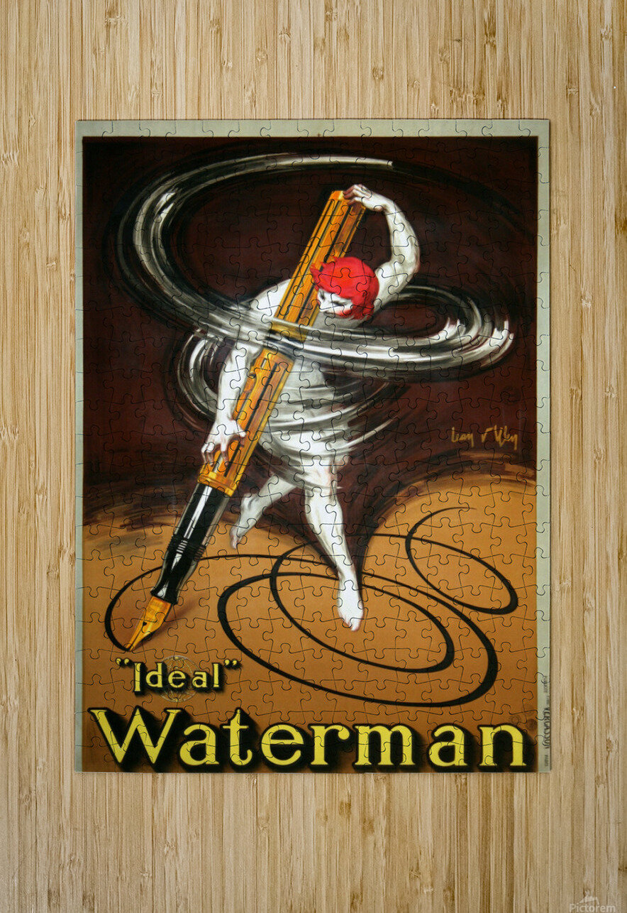 Ideal Waterman  HD Metal print with Floating Frame on Back
