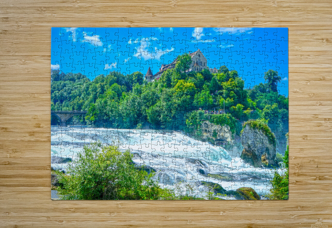Perfect Day at Rhine Falls Switzerland  HD Metal print with Floating Frame on Back