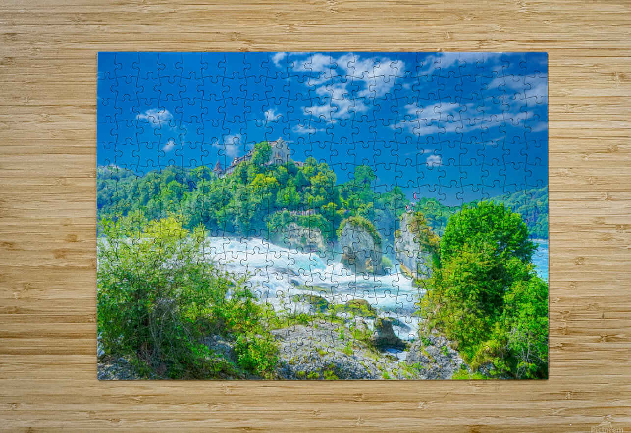 Beautiful Day at Rheinfall Switzerland 1 of 2  HD Metal print with Floating Frame on Back