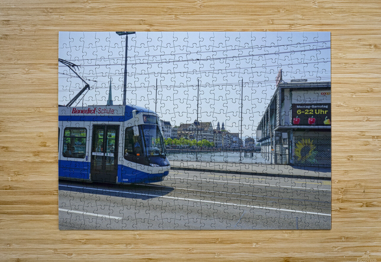 Snapshot in Time Zurich in Summer 4 of 6  HD Metal print with Floating Frame on Back