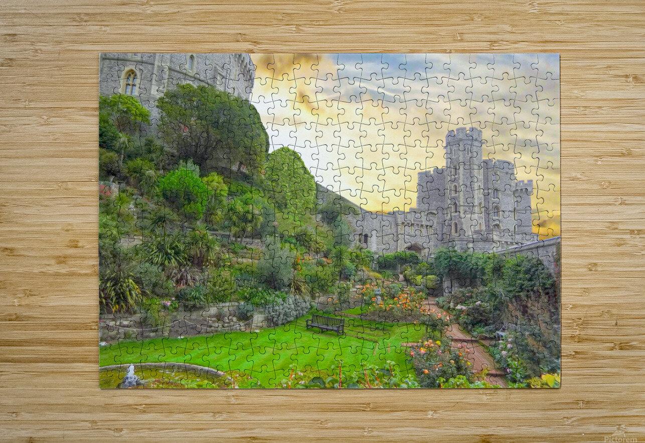 Windsor Castle at Sunset  HD Metal print with Floating Frame on Back