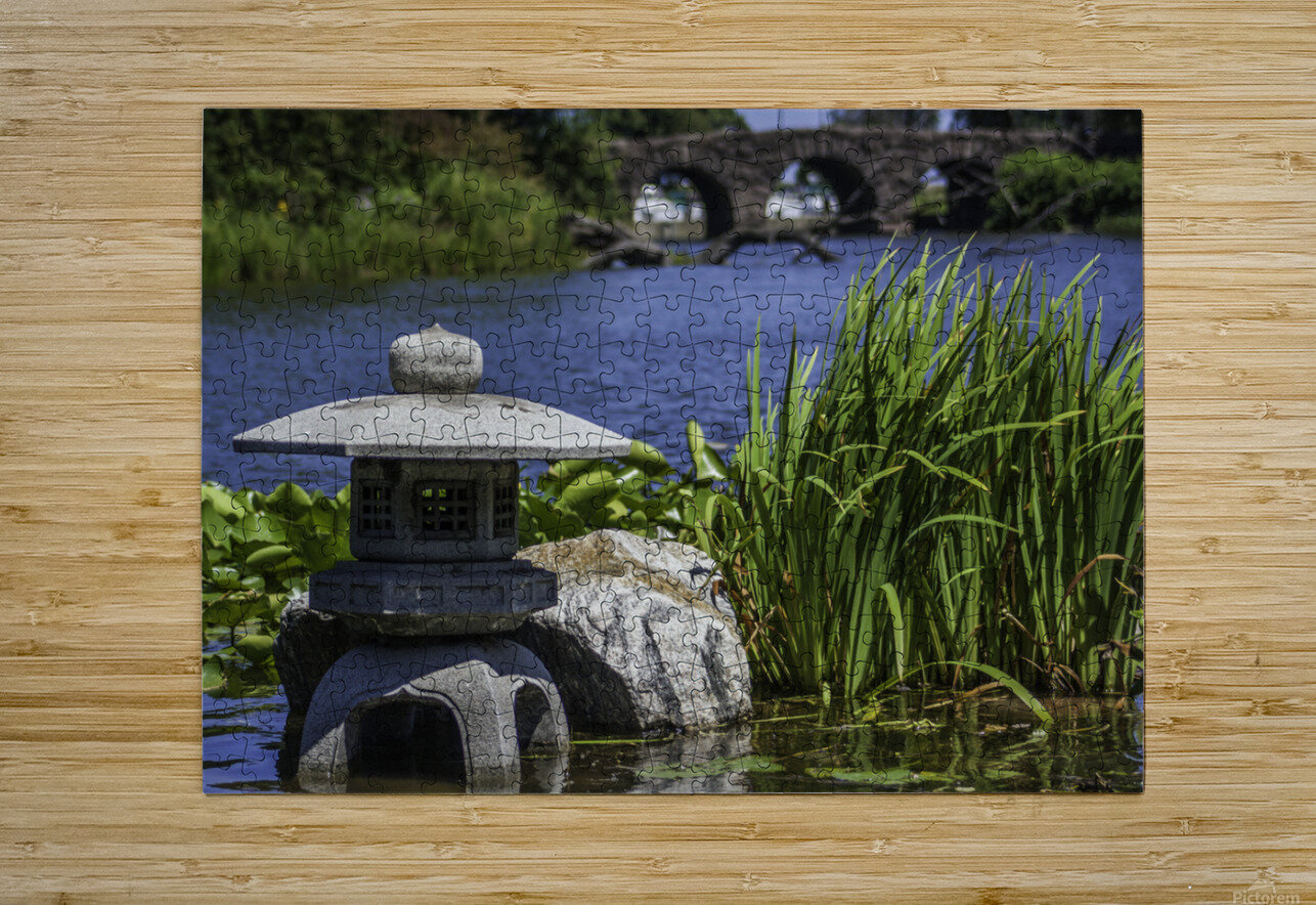 Pagoda in the Park  HD Metal print with Floating Frame on Back