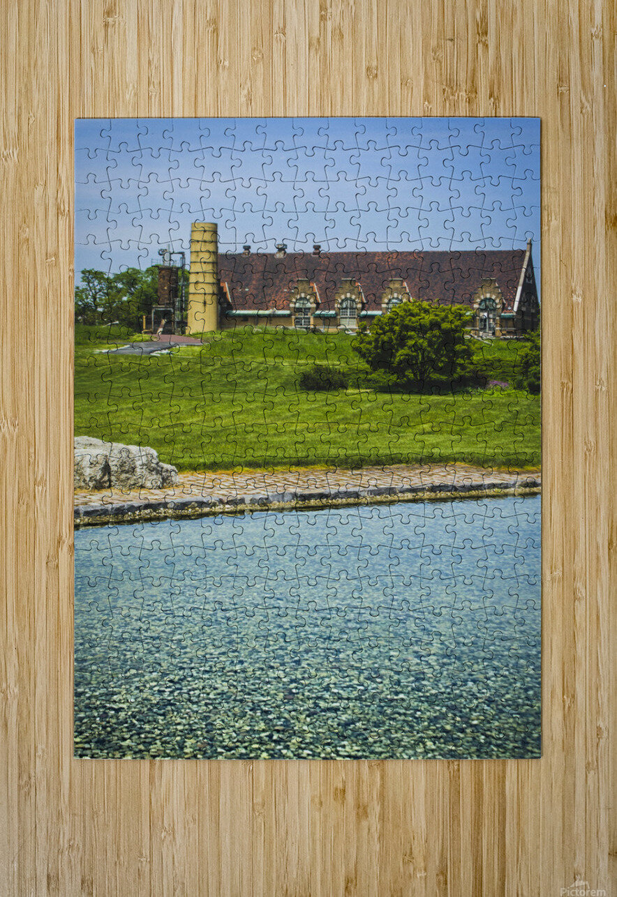 Quiet Space in the City  HD Metal print with Floating Frame on Back