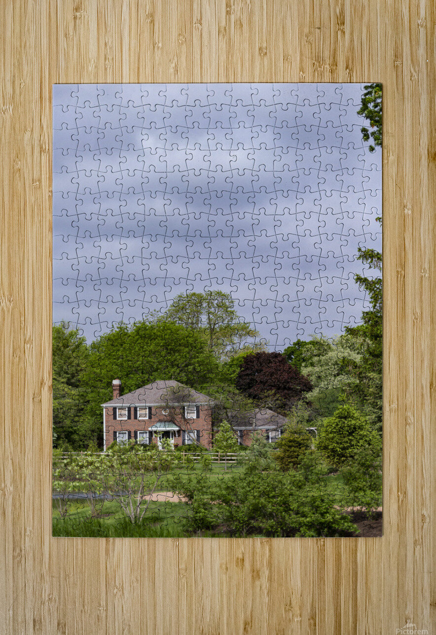 House in the Woods  HD Metal print with Floating Frame on Back