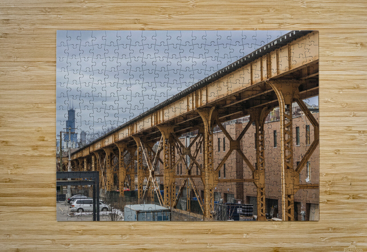 Take the Next Train  HD Metal print with Floating Frame on Back