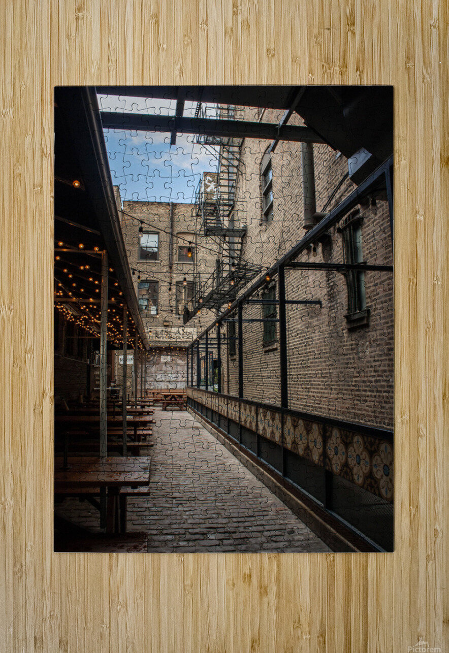 Green Street Meats  HD Metal print with Floating Frame on Back