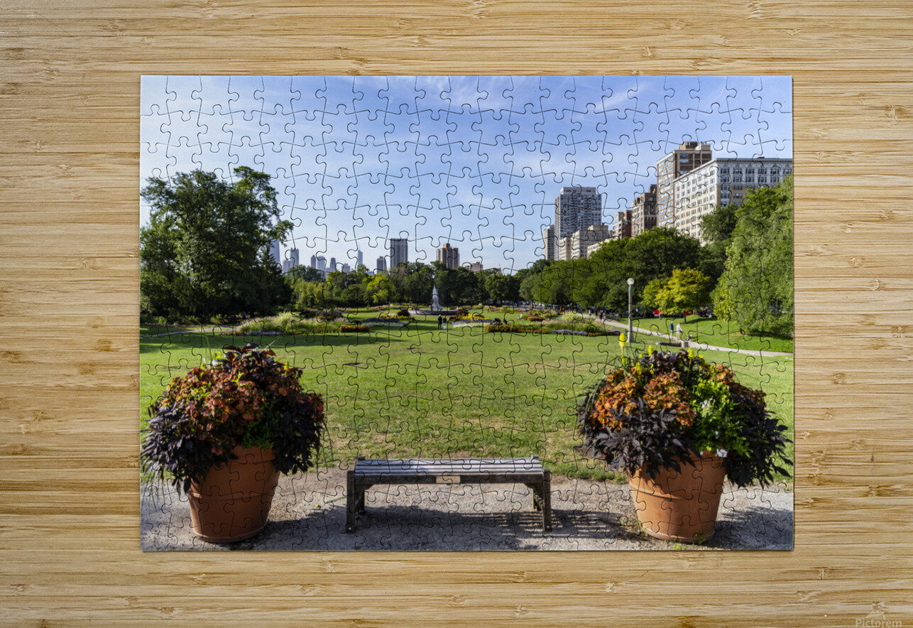Look Through Lincoln Park  HD Metal print with Floating Frame on Back