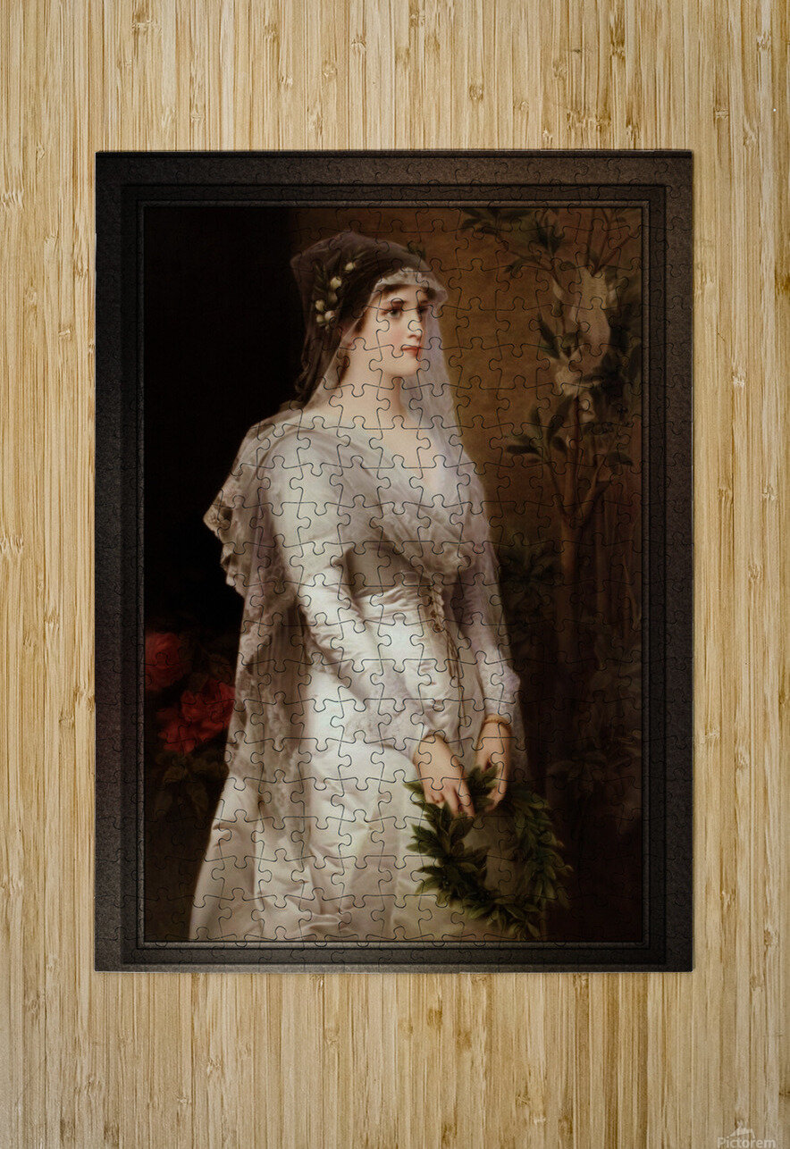 Laura by Conrad Kiesel Classical Art Xzendor7 Old Masters Reproduction  HD Metal print with Floating Frame on Back