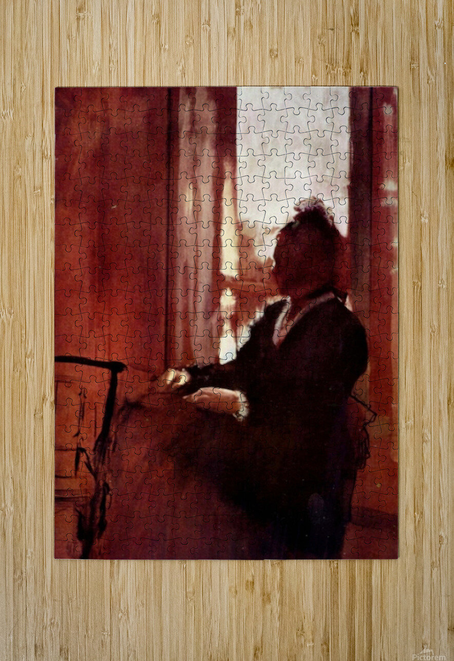 Woman at the window by Degas  HD Metal print with Floating Frame on Back