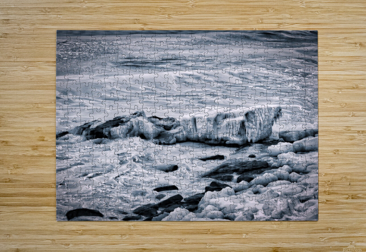 Ice Blue  HD Metal print with Floating Frame on Back
