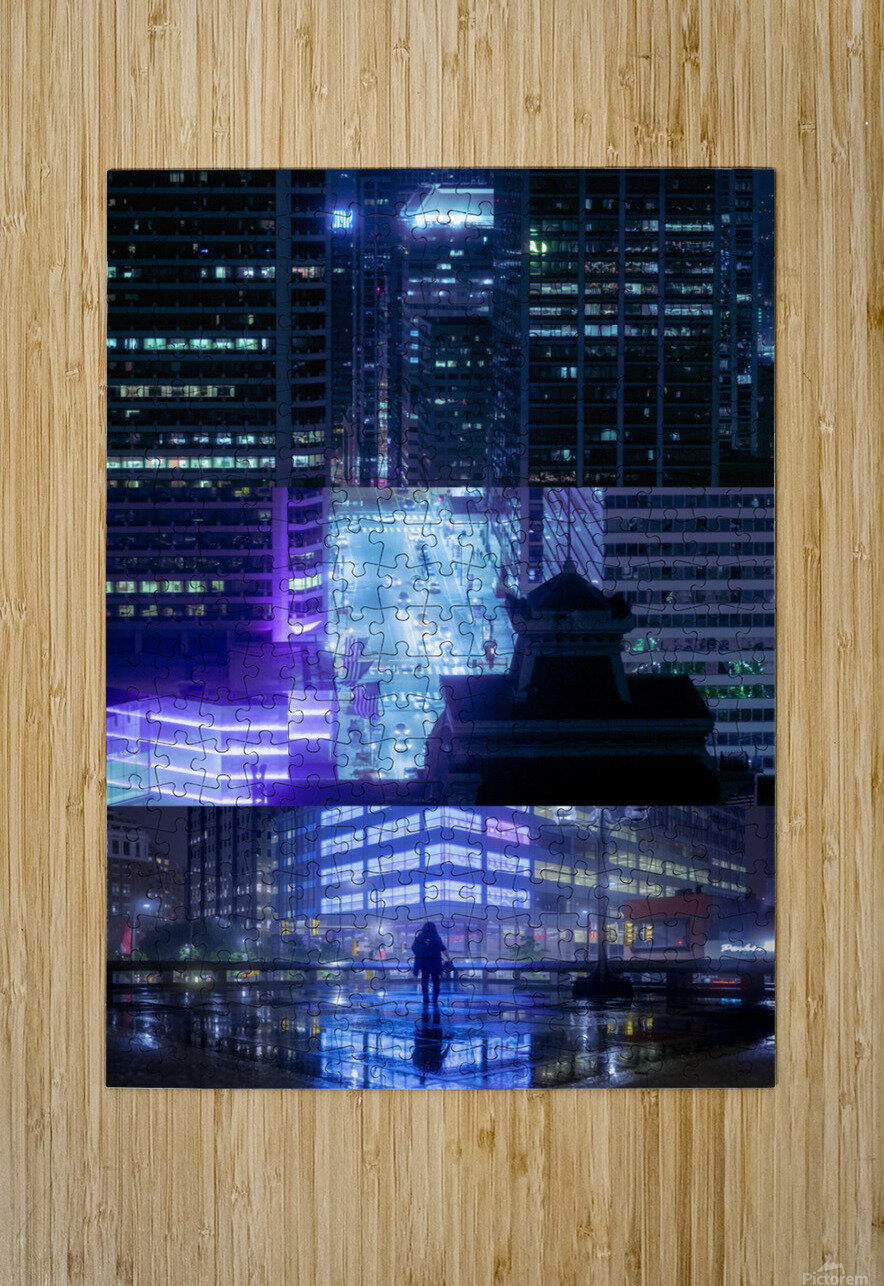 Nocturne City  HD Metal print with Floating Frame on Back