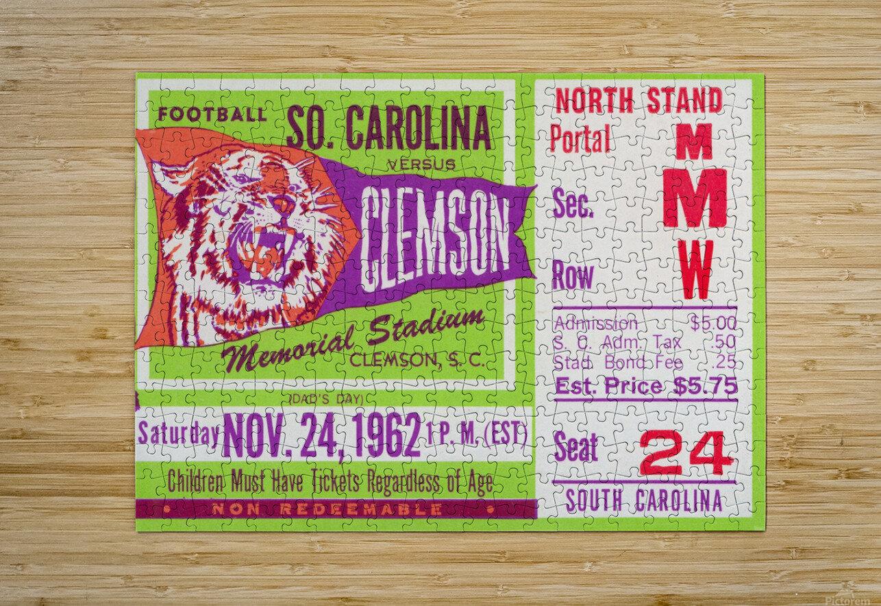 1962 Clemson vs. South Carolina  HD Metal print with Floating Frame on Back