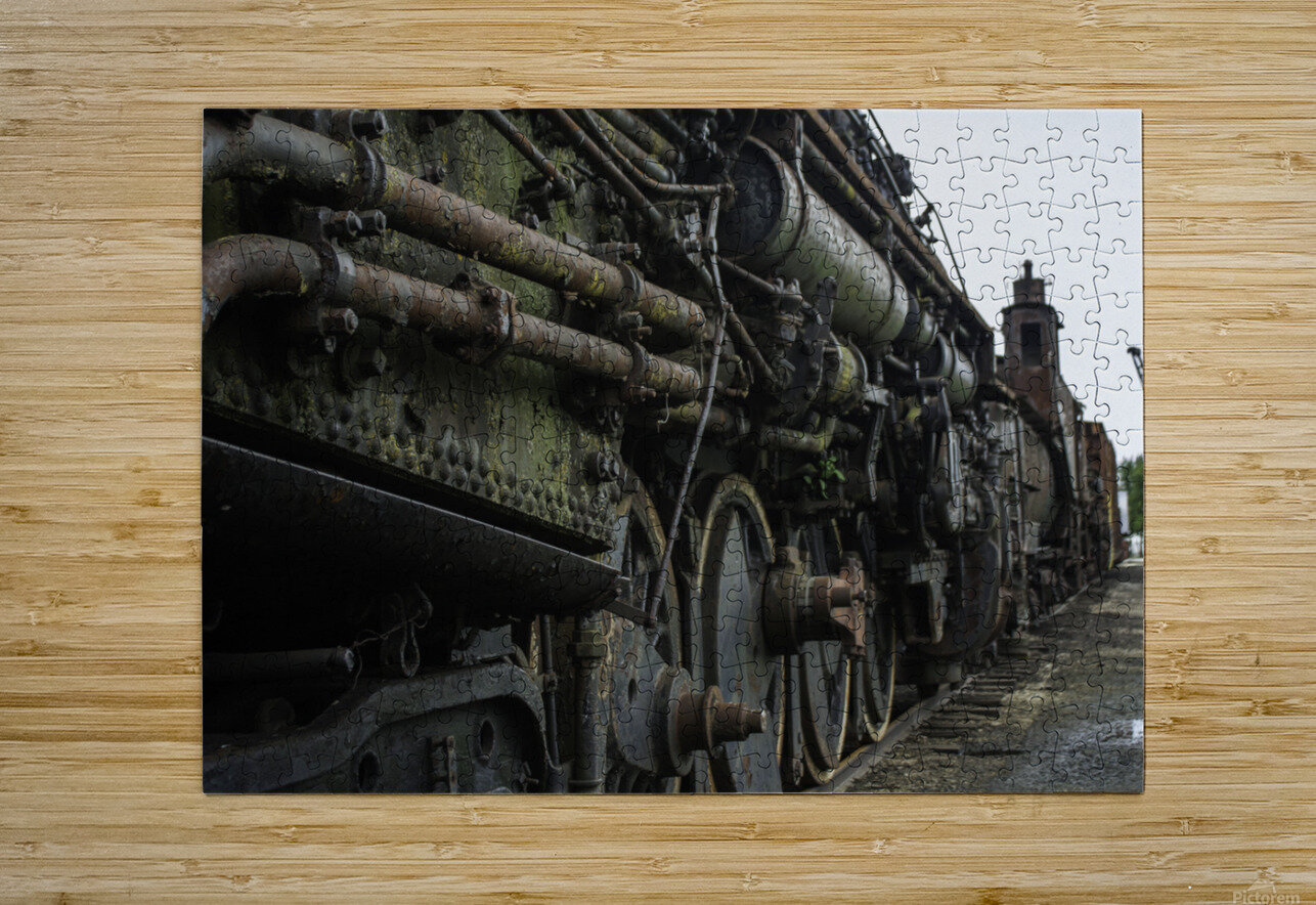 Old Train in the Yard  HD Metal print with Floating Frame on Back