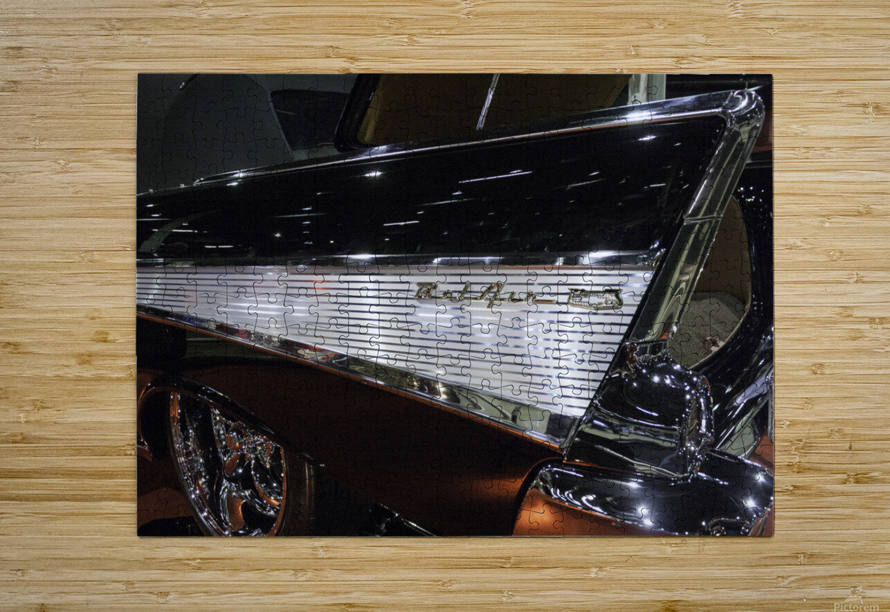 1957 Chevy Belair  HD Metal print with Floating Frame on Back