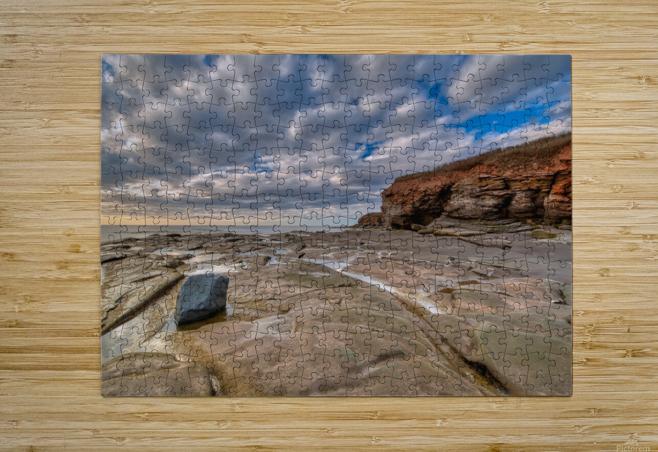 Low Tide in Petit Etang  HD Metal print with Floating Frame on Back
