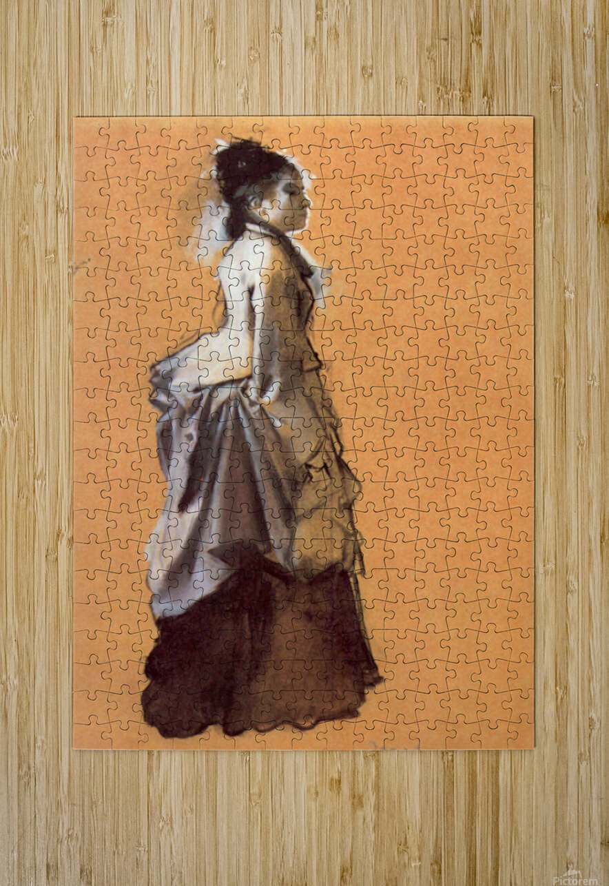 Young lady in the road costume by Degas  HD Metal print with Floating Frame on Back