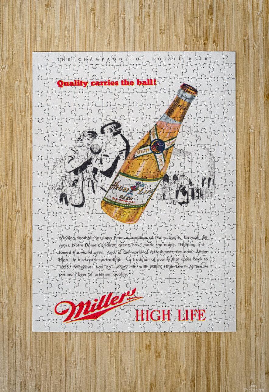 1947 Miller Beer Ad   HD Metal print with Floating Frame on Back