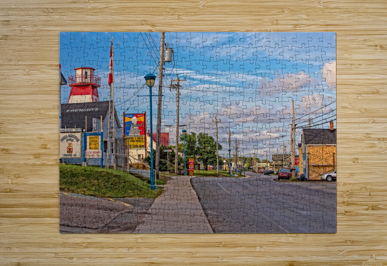 Cheticamp - Main Street  HD Metal print with Floating Frame on Back