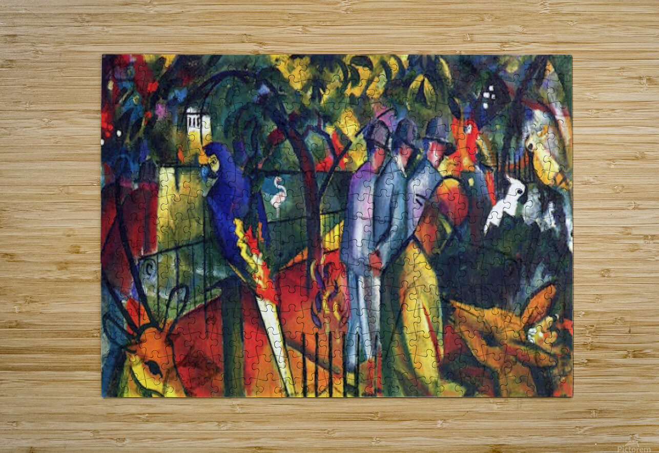 zoological gardens by Macke  HD Metal print with Floating Frame on Back