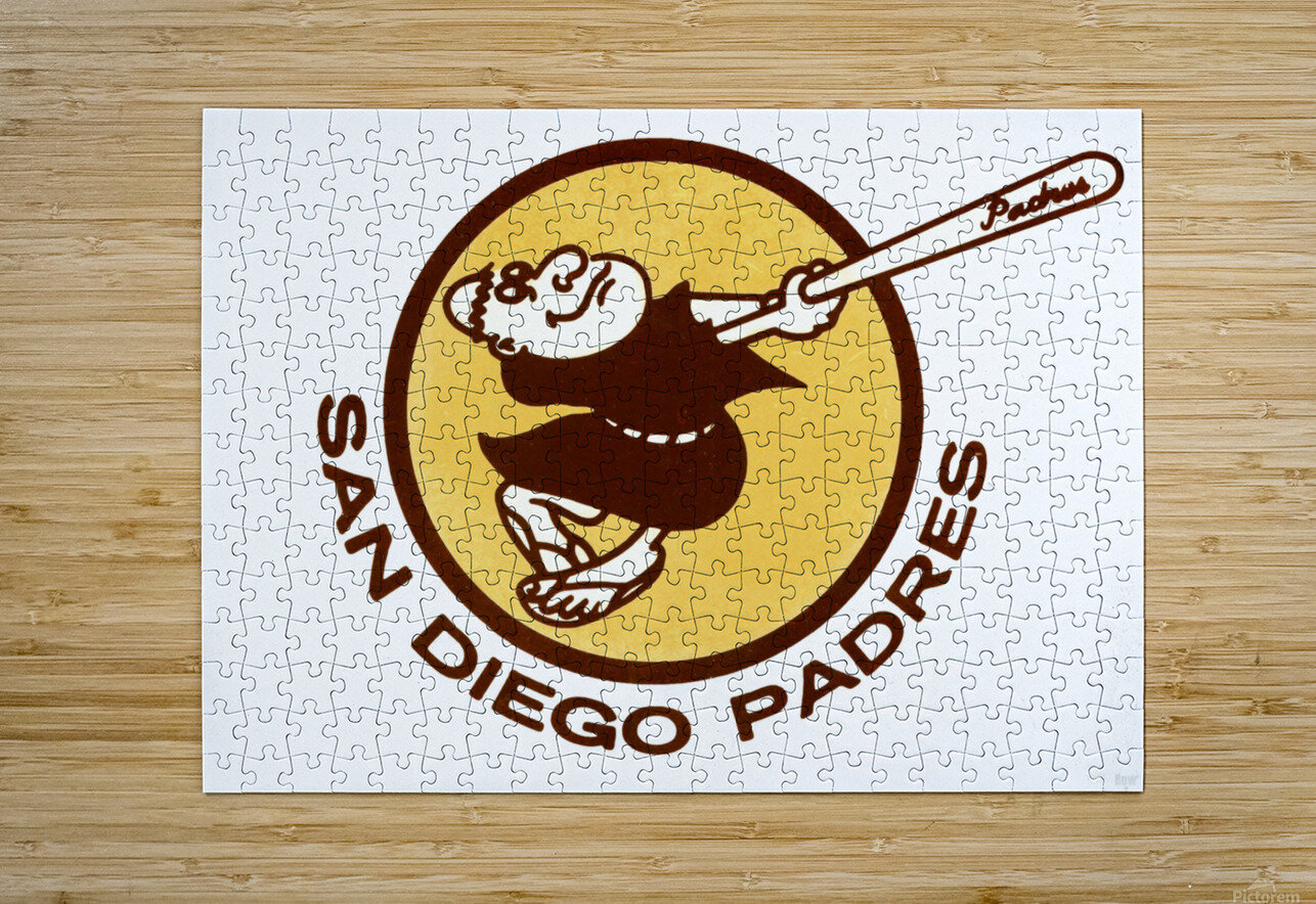 1980 San Diego Padres Wall Art  HD Metal print with Floating Frame on Back