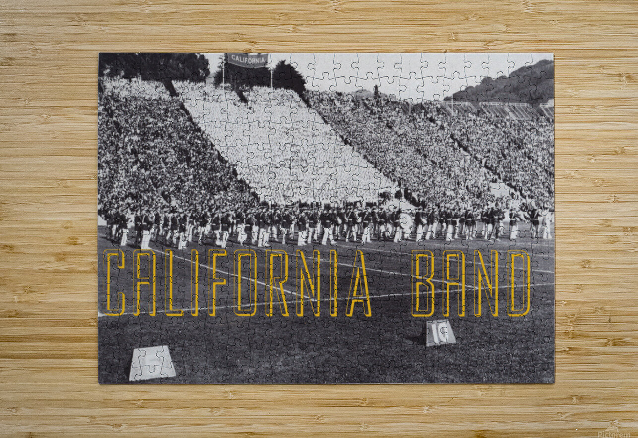 1937 California Marching Band Art  HD Metal print with Floating Frame on Back