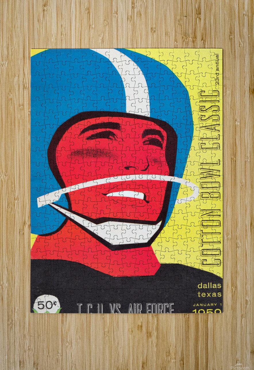 1959 TCU vs. Air Force Football Program Cover Art  HD Metal print with Floating Frame on Back