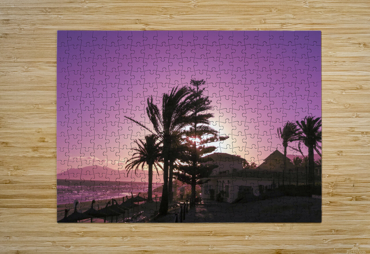 Sunset Costa Del Sol Spain  HD Metal print with Floating Frame on Back