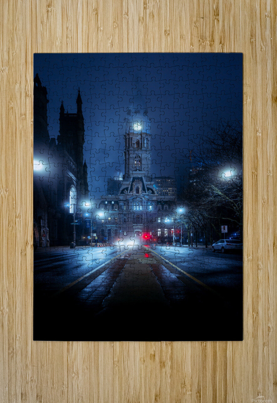 Neo-Gotham  HD Metal print with Floating Frame on Back