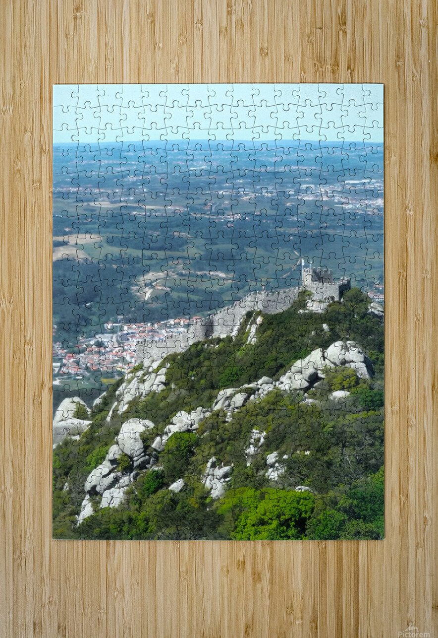 Castelo dos Mouros - Castle of the Moors - Sintra Portugal  HD Metal print with Floating Frame on Back