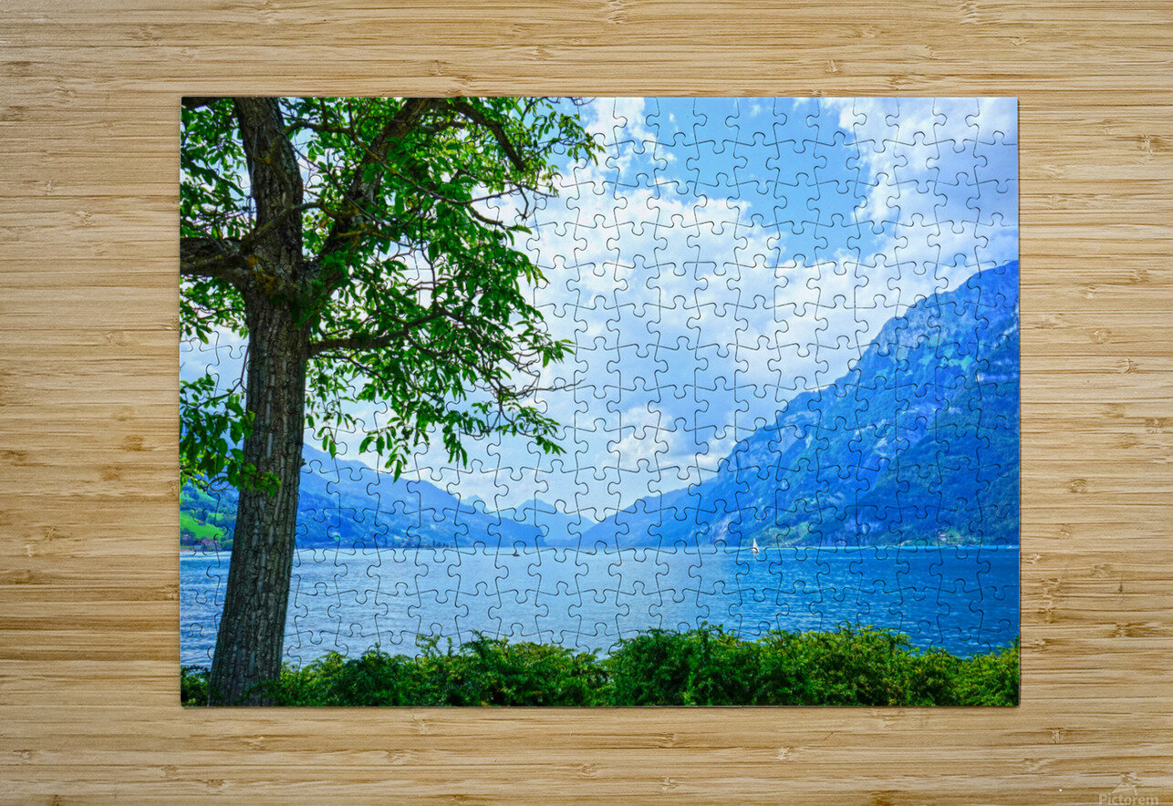 Snapshot in Time Walensee - Lake Walen Switzerland 3 of 3  HD Metal print with Floating Frame on Back