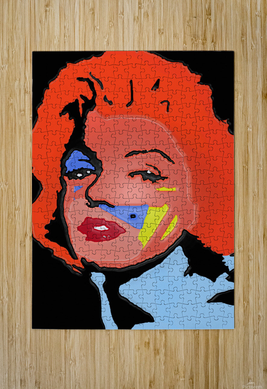 Marilyn in full color  HD Metal print with Floating Frame on Back