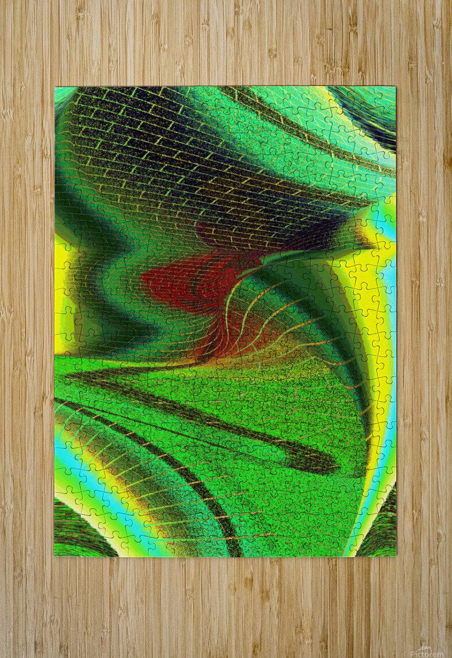 Brickabrack  HD Metal print with Floating Frame on Back