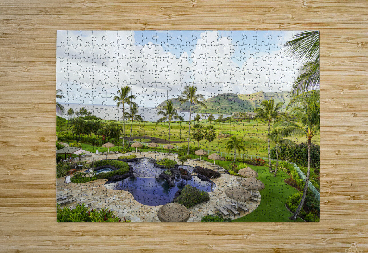 Welcome to Paradise   Kauai Hawaii  HD Metal print with Floating Frame on Back