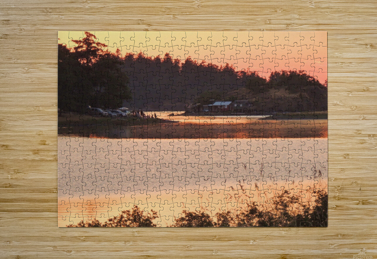 End of a Summer's Day  HD Metal print with Floating Frame on Back