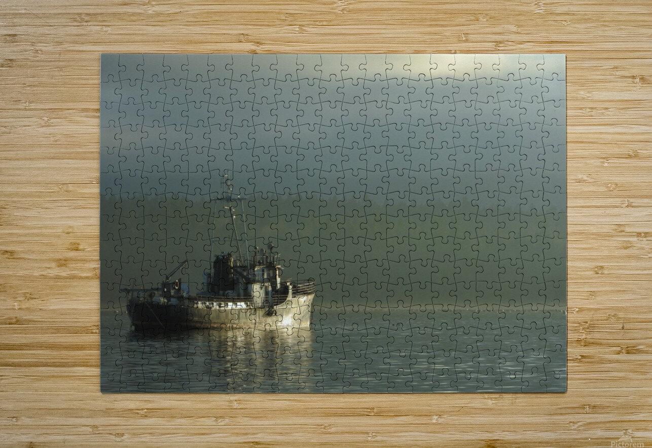 Basking  HD Metal print with Floating Frame on Back