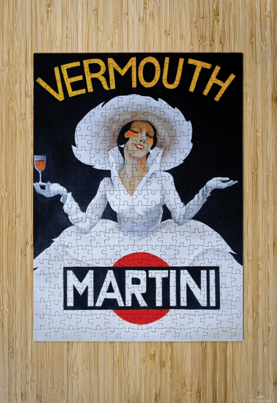 Martini Rossi  HD Metal print with Floating Frame on Back