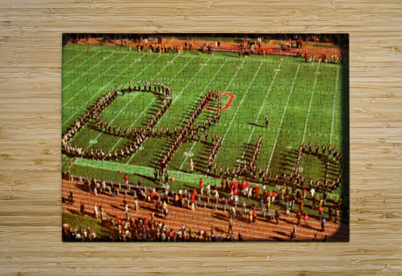 1978 Ohio State Marching Band Art  HD Metal print with Floating Frame on Back
