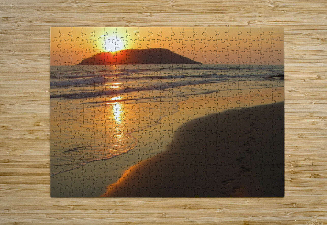 Footprints in the Sand 2  HD Metal print with Floating Frame on Back