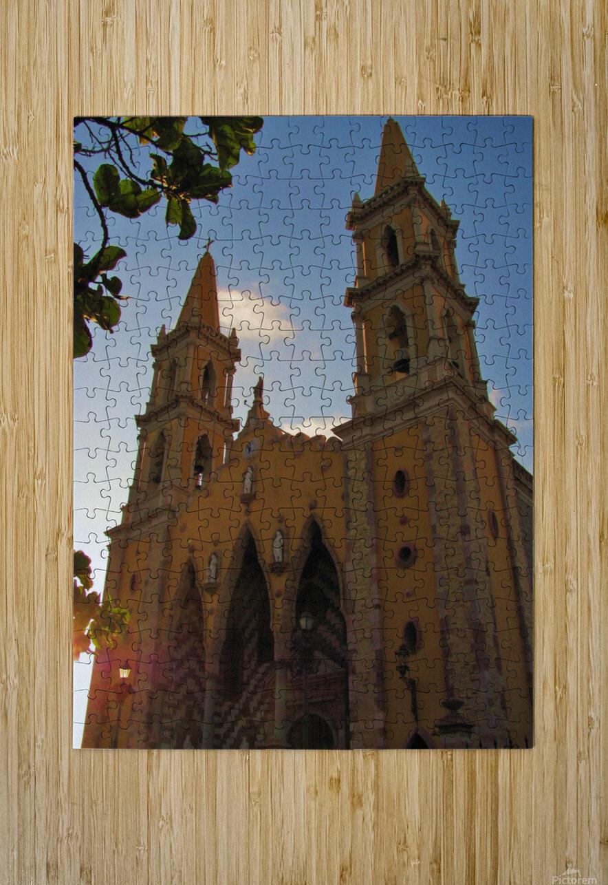 Catedral Basilica de Mazatlan  HD Metal print with Floating Frame on Back
