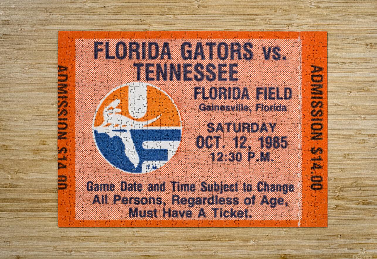 1985 Florida Gators vs. Tennessee Vols  HD Metal print with Floating Frame on Back